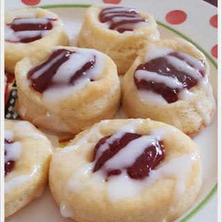 Cherry Kolacky Thumb Print Cookies.