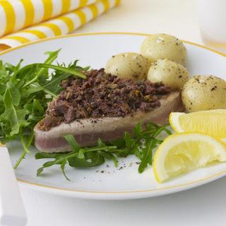 Tuna with Orange Scented Olive Tapenade.