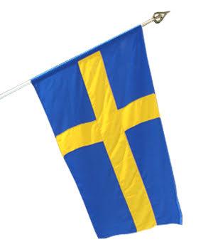 Svensk fana, m-poly. 100x160