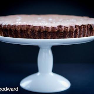 Chocolate Souffle Cake with Pecan Smoked Sea Salt