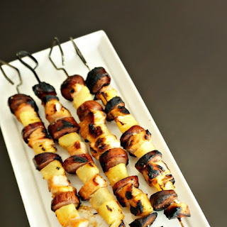 Pineapple Sirracha Chicken and Smoked Sausage Kabobs