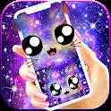Galaxy Cute Smile Cat Keyboard Theme icon