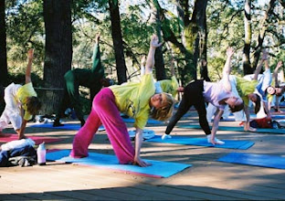 Photo: Yoga Farm, Grass Valley, CA - outdoor yoga practice
