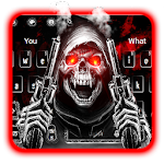 Bloody Skull Gun Keyboard Theme