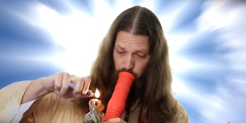 A California church ran an ad with Jesus ripping a bong