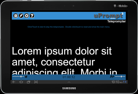 uPrompt Nomad Teleprompter- screenshot thumbnail