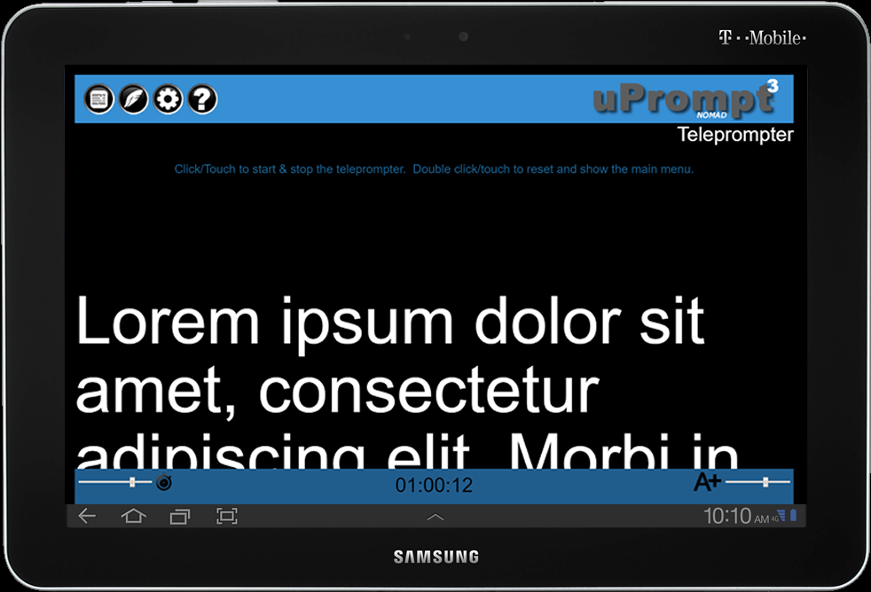 uPrompt Nomad Teleprompter- screenshot