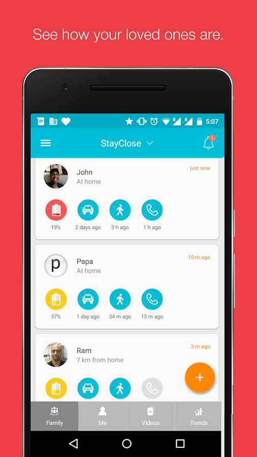 Stay Close - Family Care- screenshot