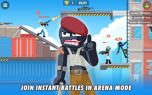 Stickman Combats: Multiplayer Stick Battle Shooter apktram screenshots 6