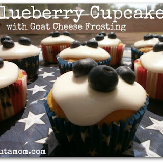 Blueberry Cupcakes with Goat Cheese Frosting