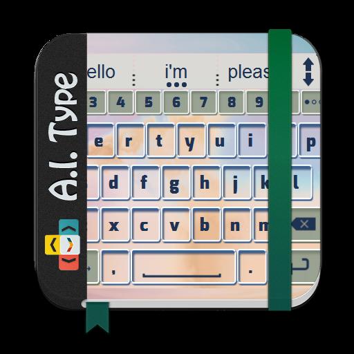 个人化のミスティ炎 AiType テーマ LOGO-記事Game