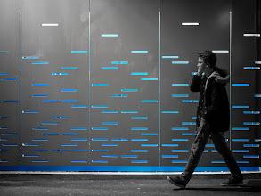 Photo: blue line...