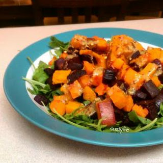 Autumn Root Vegetable Salad with Mustard Maple Vinaigrette (Gluten Fre, Vegan)