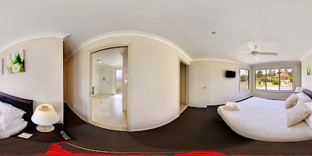 Photo: Beach House 1 - Upstairs Master Bedroom/Ensuite www.escapeatnobbys.com.au