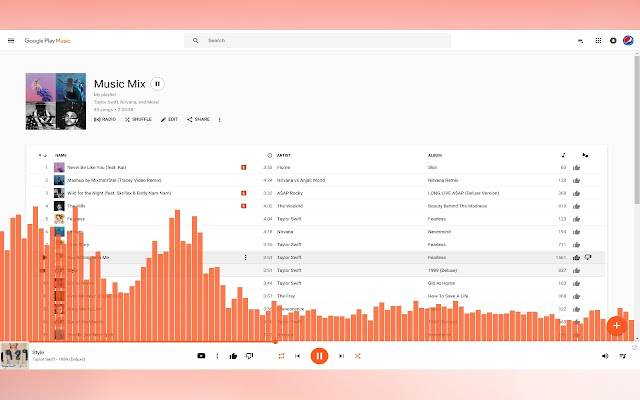 music visualizer for google play music chrome web store