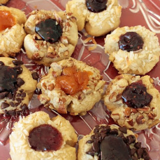 Christmas Wreath Thumbprint Cookies