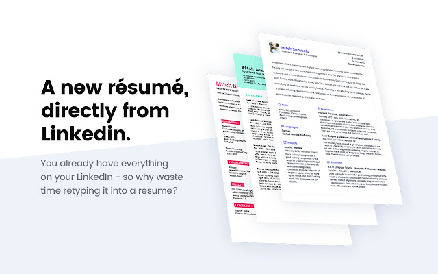 Ceev - Linkedin Resume Creator - Chrome Web Store
