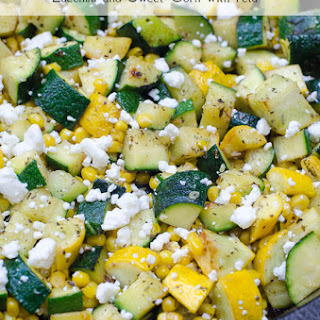 Zucchini and Sweet Corn with Feta