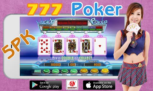 777 Poker Slot Machine 5PK