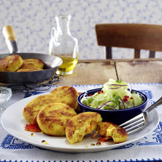 Couscous and Carrot Patties with Sesame Salad