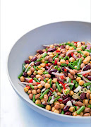 No-cook four bean salad.