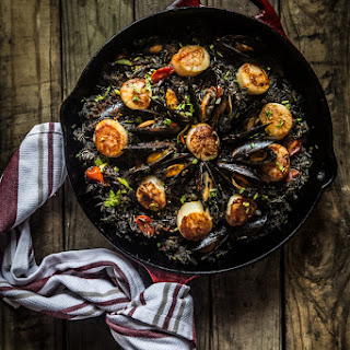 Squid Ink Seafood Paella.