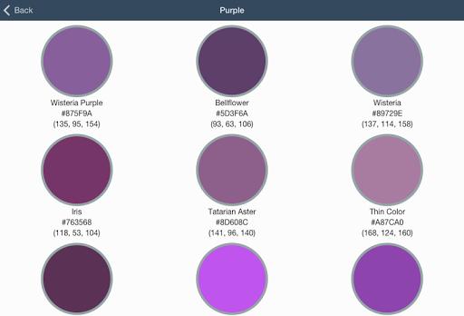 Flat Design Color Palettes for PC