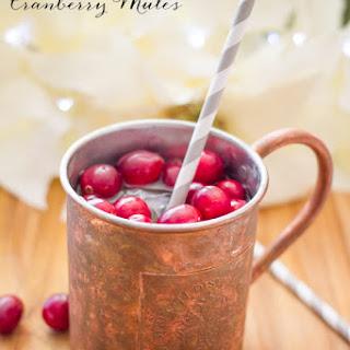 Sparkling Cranberry Mules.