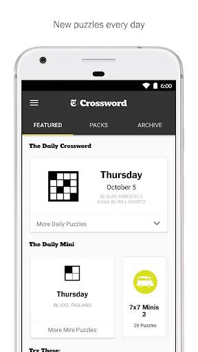 NYTimes - Crossword screenshot
