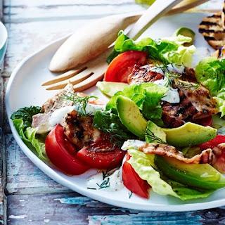 Chilli chicken with BLT salad