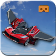 VR Flying Car Simulator 3D Icon