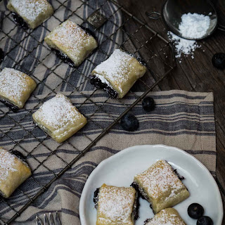 Blueberry Puff Pastry Rolls Recipe