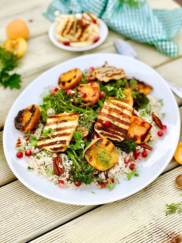 Herby Barley Couscous With Chipotle Halloumi Recipe