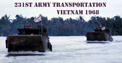 Photo: Steaming along Wide Open (10 knots) Cargo,  Precious, 74 pallets of Beer bond for Don Tam 9th Infantry Base deep in the Mekong Delta.  Gov Kirk of Florida sent us a Florida Flag for each of our 14 LCM  8's and told us to win the war?