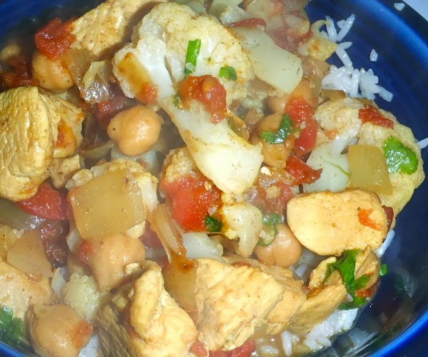 Indian Spicy-sour Chickpeas With Cauliflower Recipe