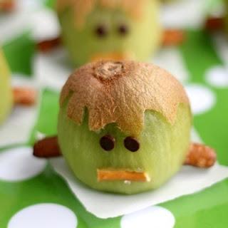 Frankenstein Kiwis – (Another!) Healthy Halloween Treat