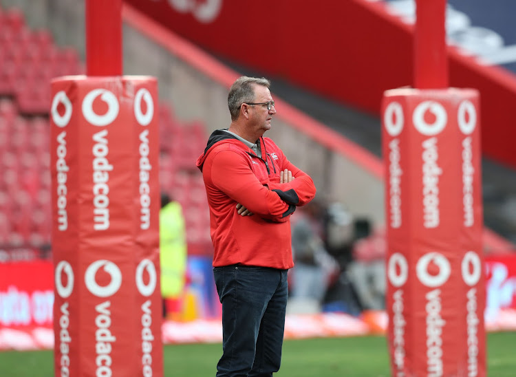 The Emirates Lions head coach Swys de Bruin.