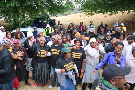 Witbank community members march to South32 offices to hand over memorandum