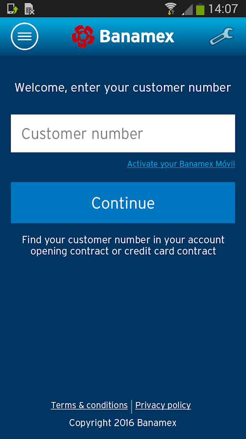 Banamex Mobile- screenshot