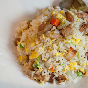 BBQ Chicken & Egg Fried Rice