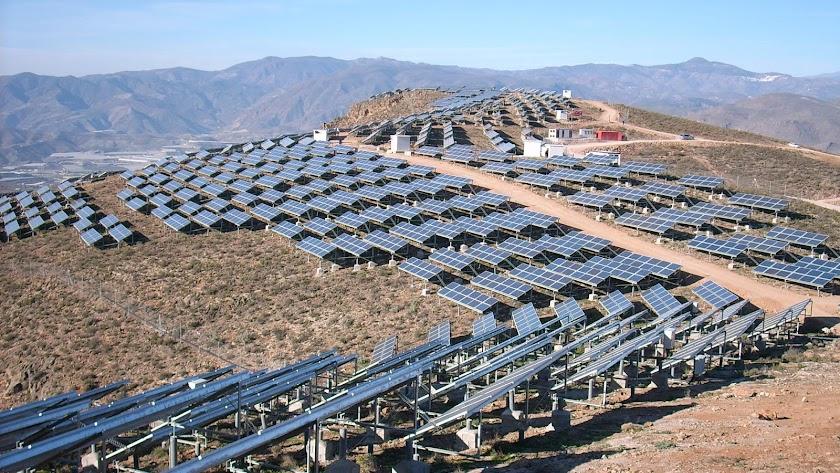 Un campo solar instalado en la provincia de Almería.