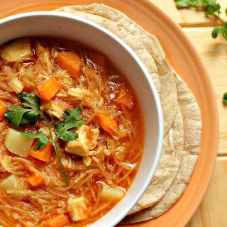 Chicken Vegetable Sopa De Fideo Recipe