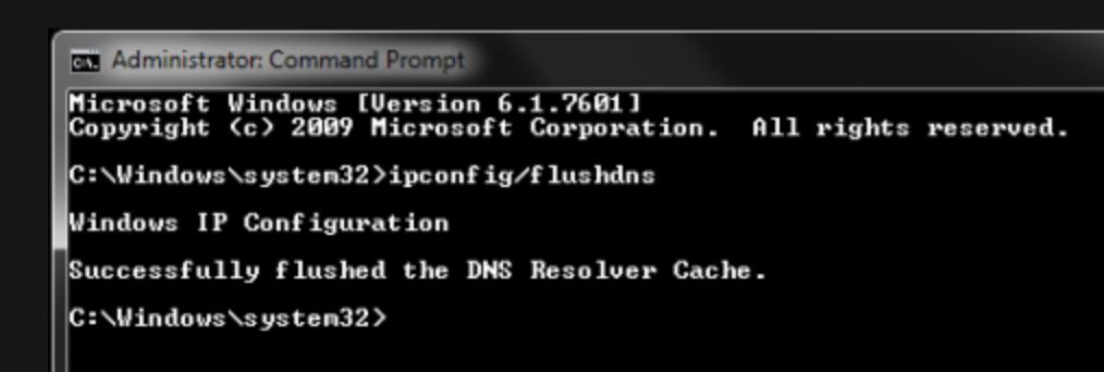 Flush DNS Cache to fix Netflix error.