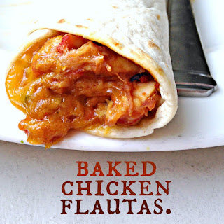 Baked Chicken Flautas.