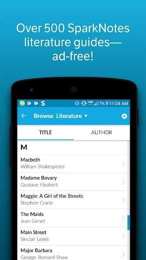 Screenshot 3 for SparkNotes's Android app'