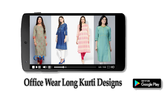 Office Wear Long Kurti Designs - náhled