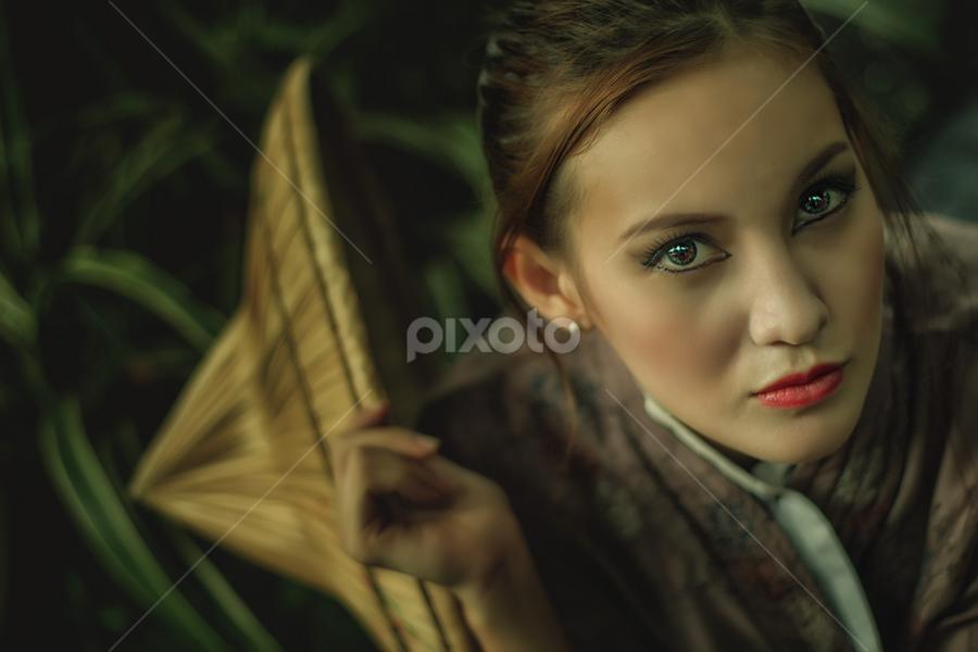 Gheiyle on kimono by Jhoezen Perez - People Portraits of Women ( kimono, face, beautiful, beauty )