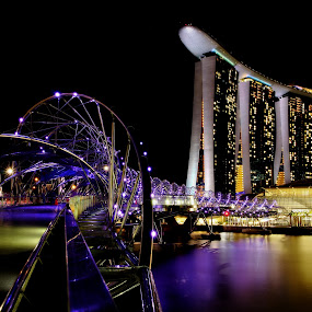 Night view at Marina Bay Sands by Siew Feun Kylemark - Landscapes Starscapes ( marina bay sands, night, long exposure, landscape, singapore, nightscape )