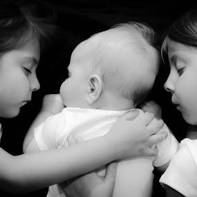 Family Nap by Jess Anderson - Babies & Children Children Candids ( sisters, cuddling, children, baby, sleeping )