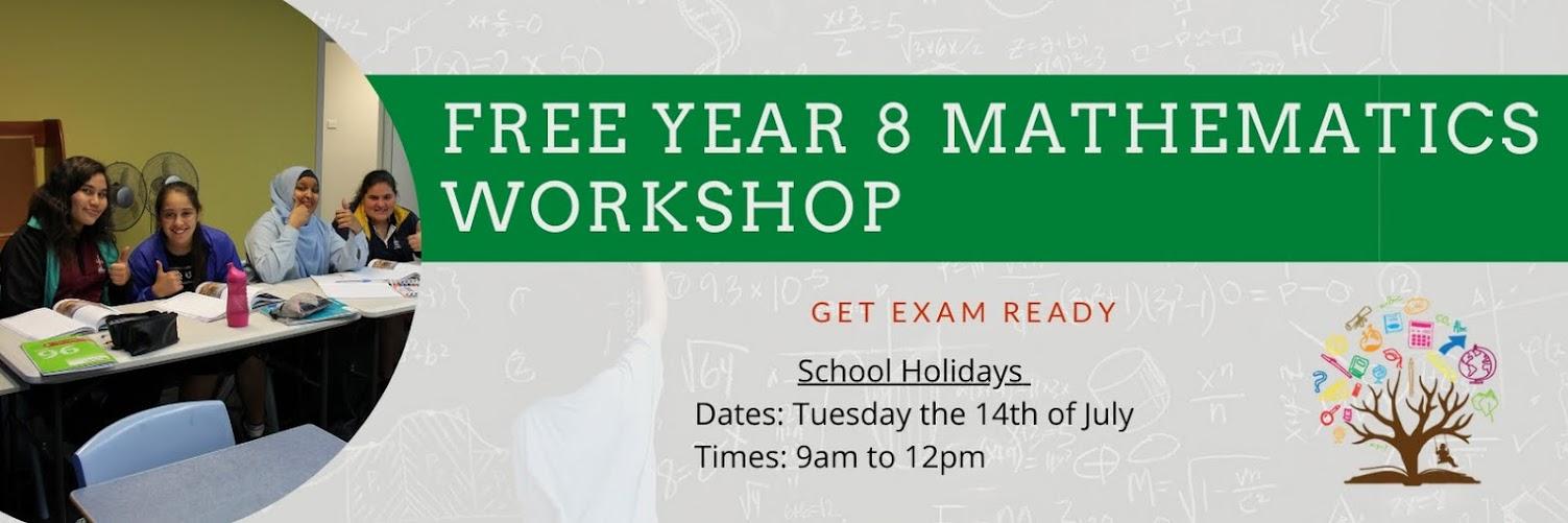 FREE Year 8 Maths Workshop